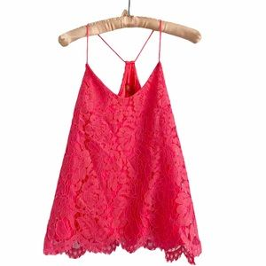 Macbeth Collection Barbie Hot Pink Lace Camisole